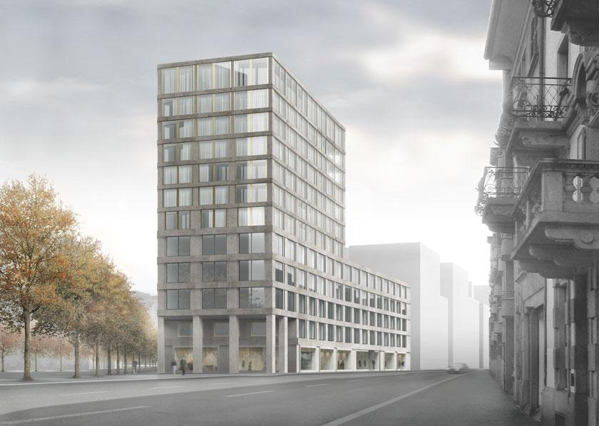 A f a s i a caruso st john bosshard vaquer for Architecture zurich