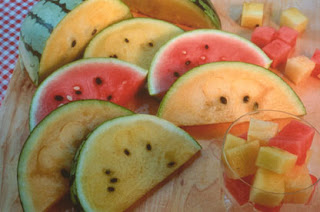 Rainbow Melons from Renee's Garden
