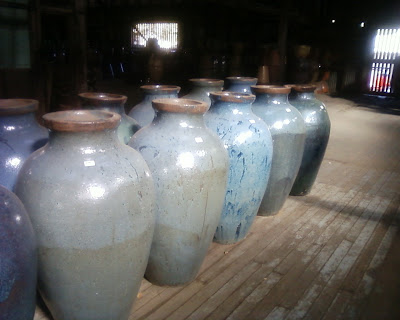 Light Blue Urns