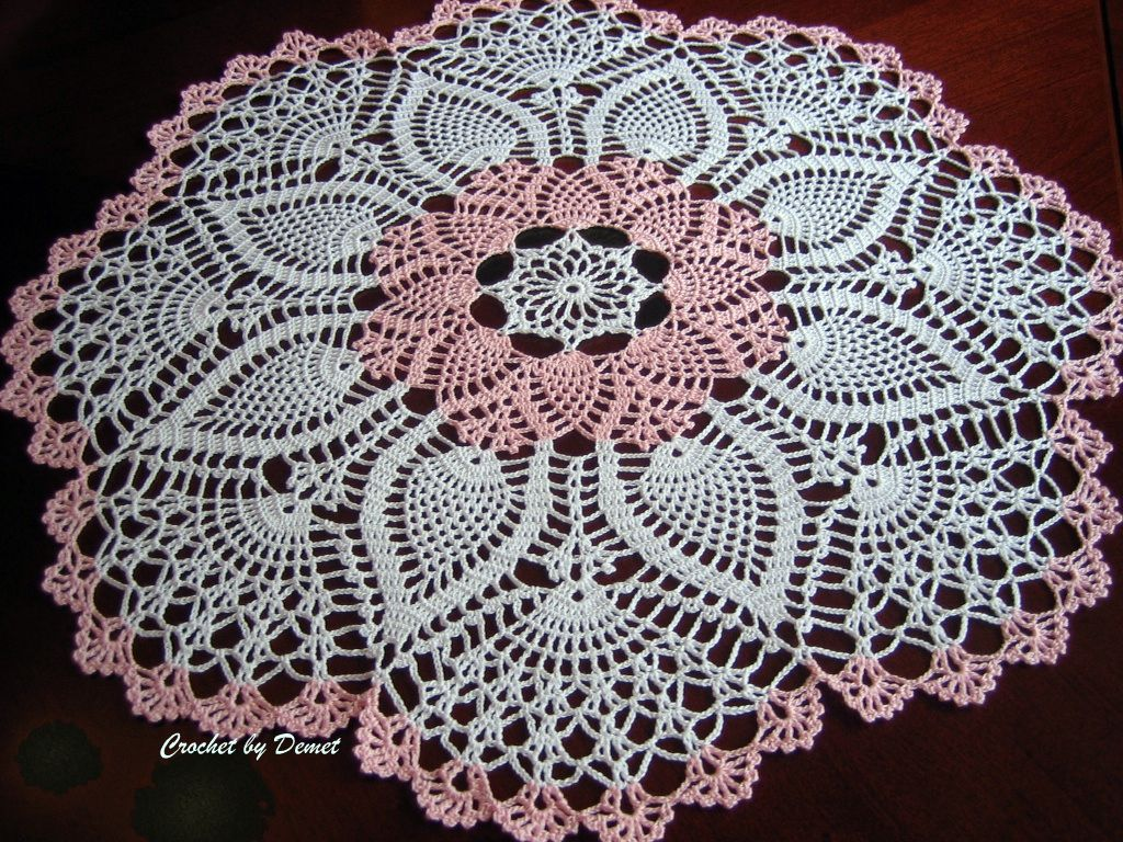 Crochet Work : TURKISH LACE-CROCHET WORK BY DEMET: August 2010