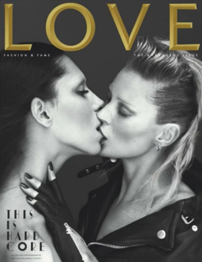 Kate Moss And Lea T Make Out