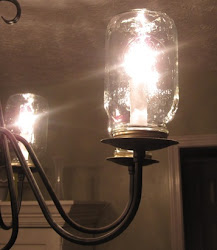 Mason Jar Chandelier