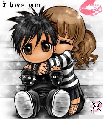 cute emo love anime