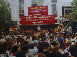 NLD campaign tour stopped in Mandalay