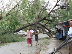Rangoon after storm