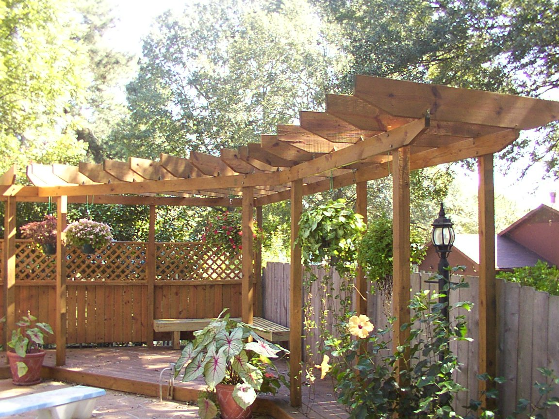 Dreamhaus53 pergola arbor lattices for Photos de pergolas