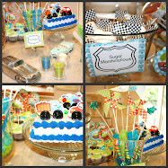Kaden's 2nd Birthday - Car Theme