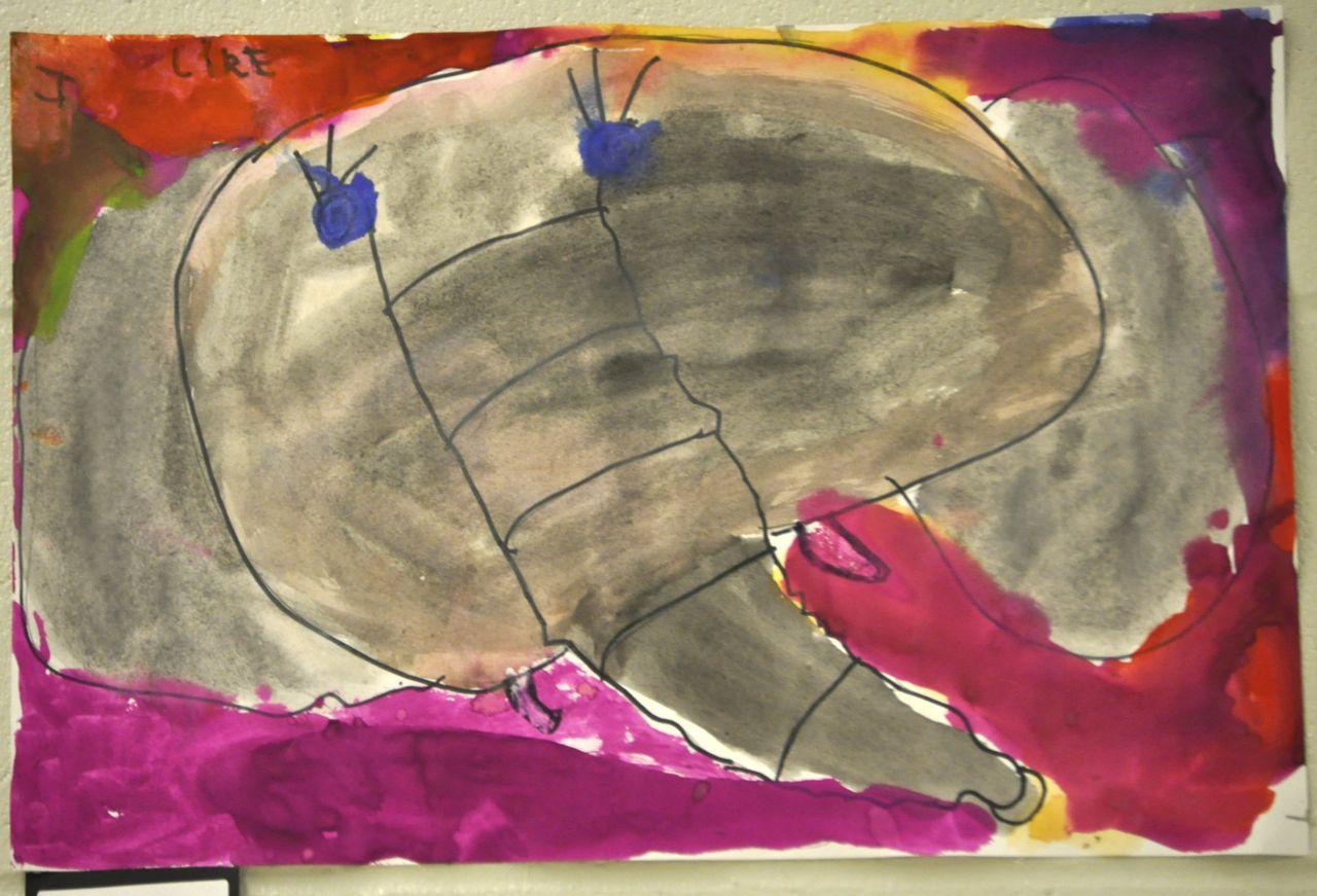 Easy elephant painting