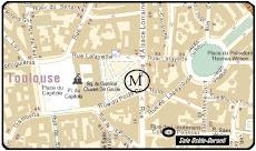 Plan d'accès à la salle Osète-Duranti