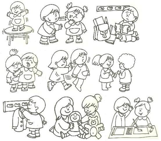 Dibujos de malas acciones para colorear - Imagui