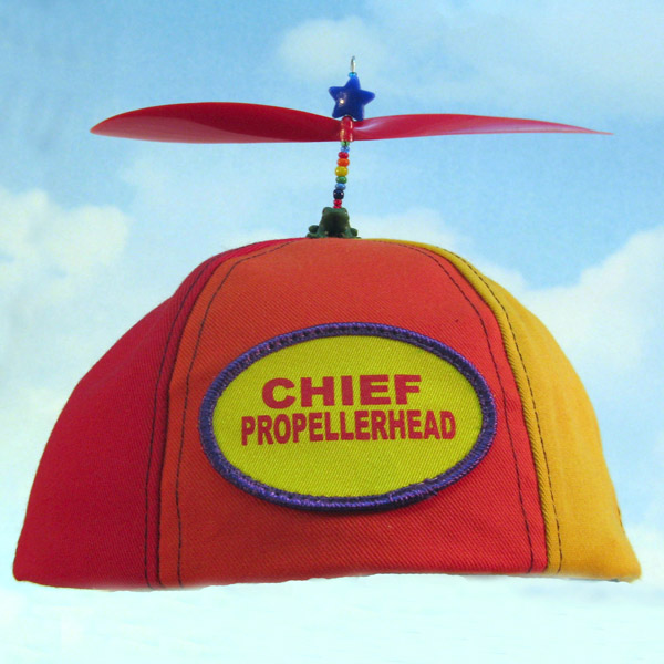 beanie hat with propeller on top