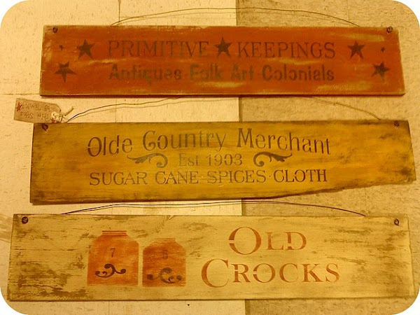 Variety Olde Signs $8.00 each 4X24""