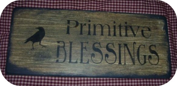 "PRIM BLESSINGS SIGN $8.00 4""X24"