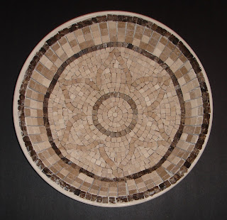 honed stone mosaic bowl ungrouted