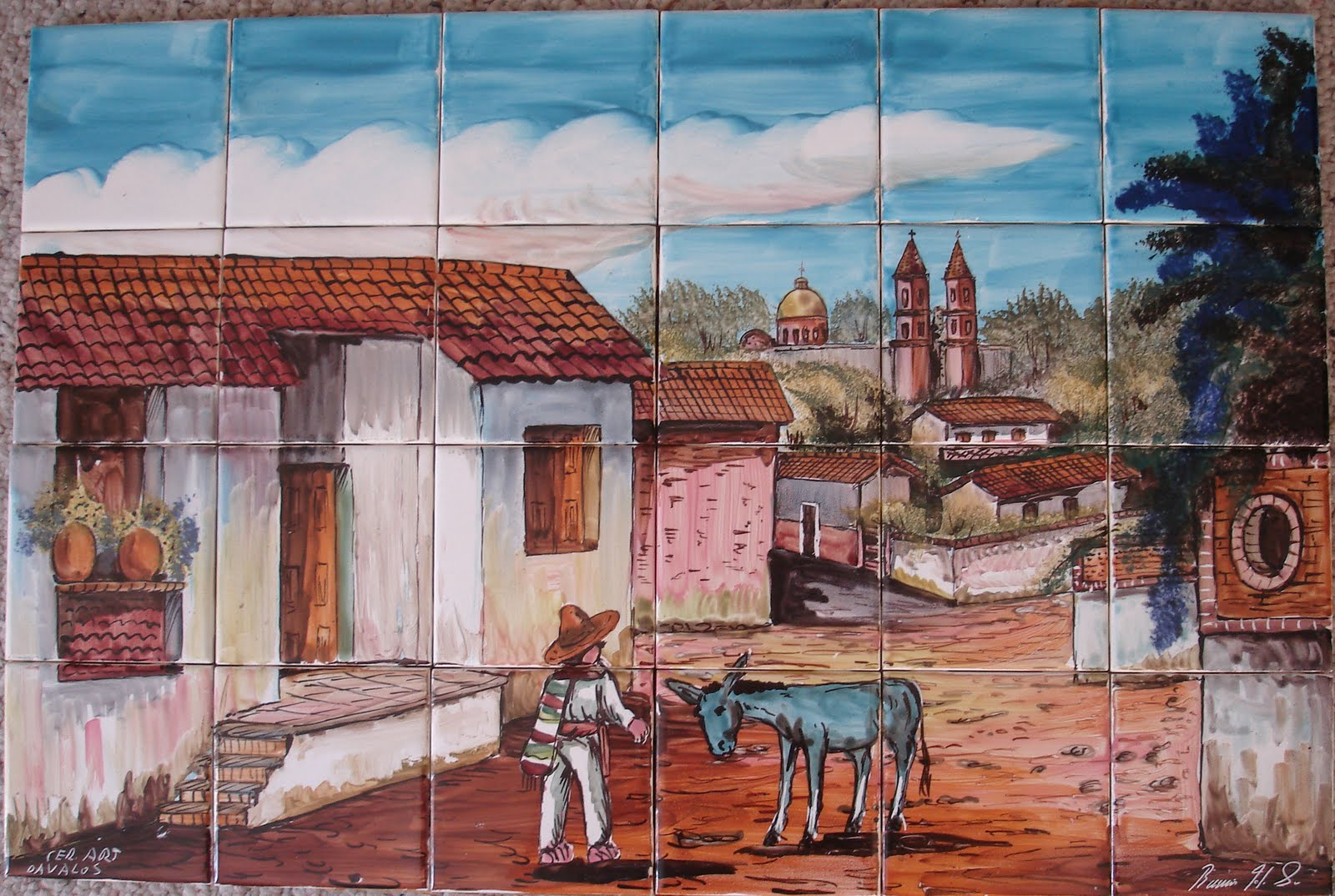 Blue Starr Gallery Mexican Tile Mural
