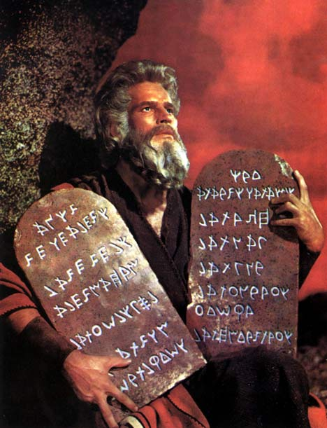 MOSES AND THE TEN COMMANDMENTS TABLETS