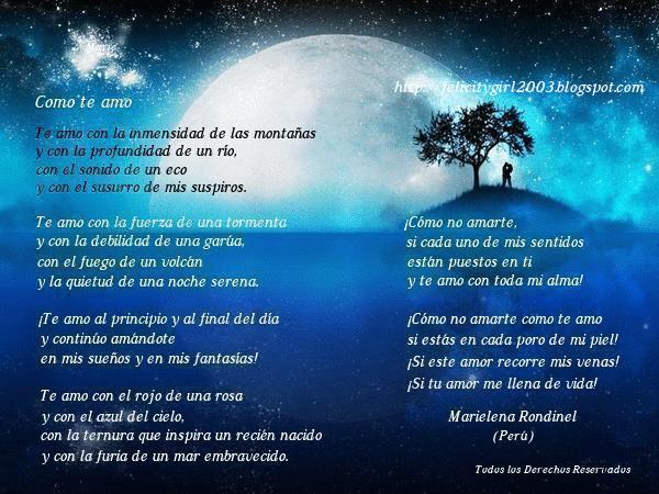 Poema: Como te amo