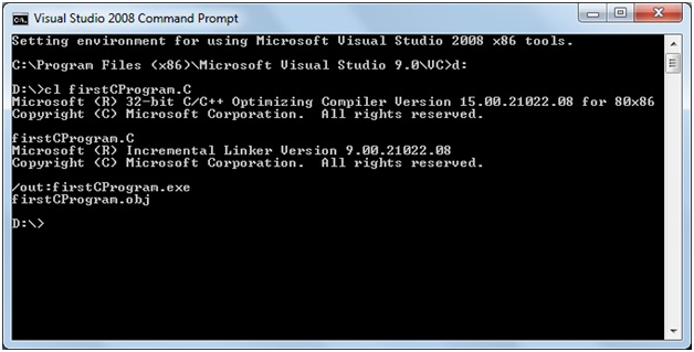 Compile c program using visual studio 2008 run c vs 2008 Online visual c compiler