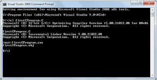 Compile C Program using Visual Studio 2008