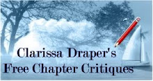 Visit Clarissa for free chapter- or short story reviews (link goes to a critique she did for me)!