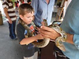 Gideon and a Burmese Python