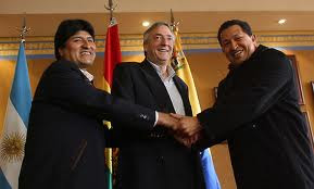 Morales, Kirchner, Chavez