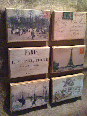 All are made from authentic vintage Paris postcards and Paris images from