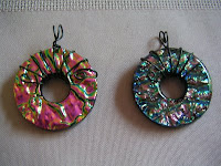 Shiny, bling, Dichroic Glass Pendant