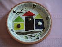 Mosaic Birdhouse Birdfeeder