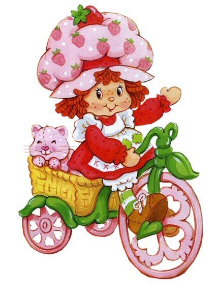 Frutillita en triciclo