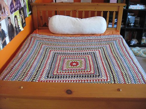 The Naked Knitters Omg Jays Giant Granny Square Blanket