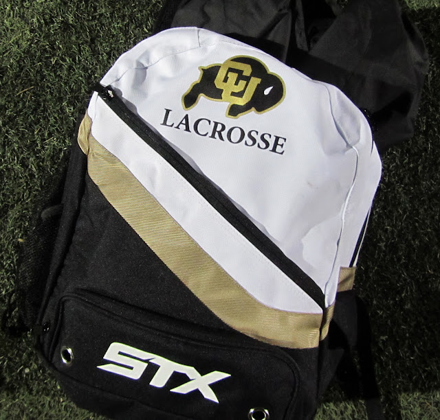 Colorado Buffs lacrosse backpacks