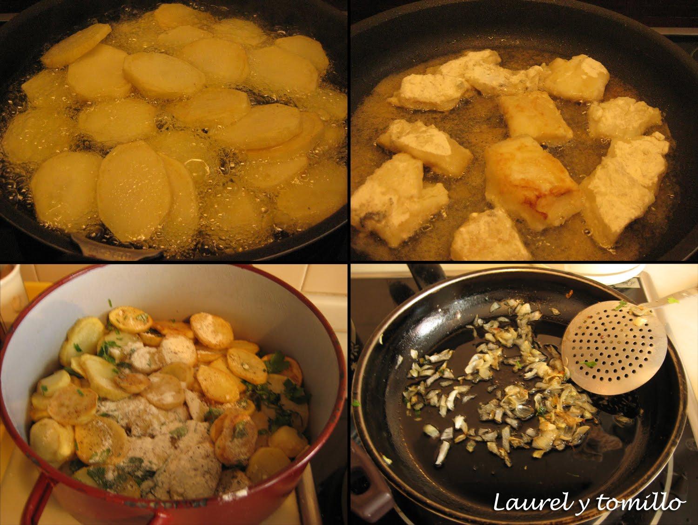 Laurel y tomillo bacalao con leche - Tiempo para cocer patatas ...