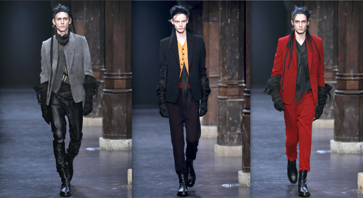 real life is elsewhere: ann demeulemeester mens fall 2011
