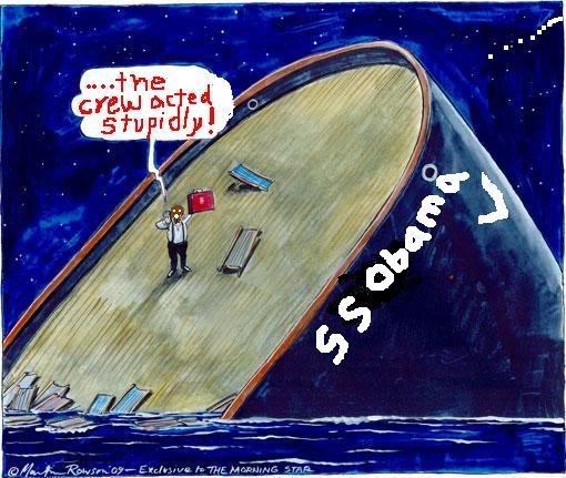 obama ship sinking