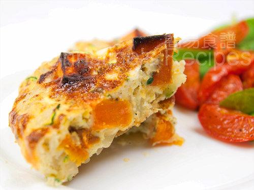 意式焗蛋餅 Zucchini & Sweet Potato Frittata01