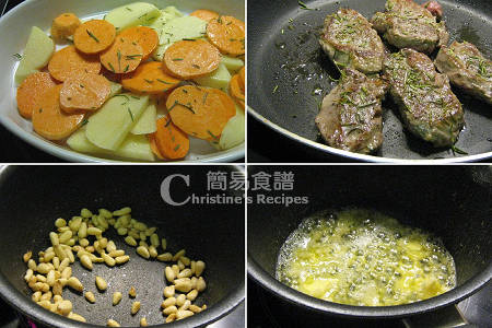 焗羊扒番薯製作圖 Baked Lamb Steaks with Sweet Potatoes Procedures