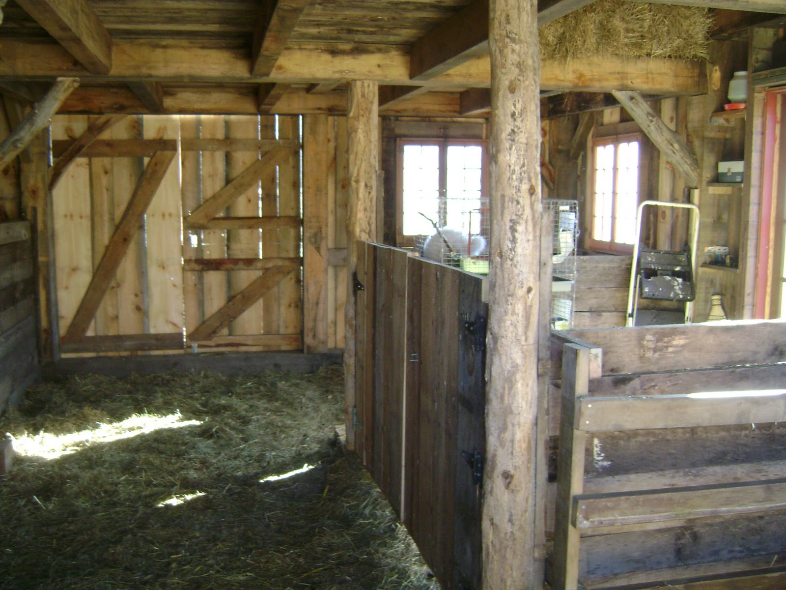 This Shot Shows The Working Space For Humanstaken From Animal Side You Can See Some Hay Peeking Through Loft Entrance