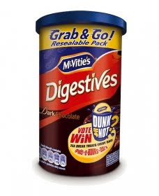 Mcvities resealable packing tube