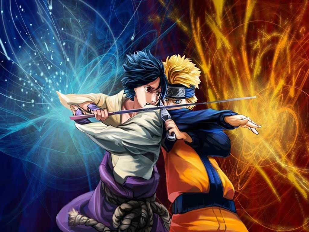 Amazing Wallpaper Naruto Cartoon - Naruto+Vs+Sasuke+1024x768  Picture_97139.jpg