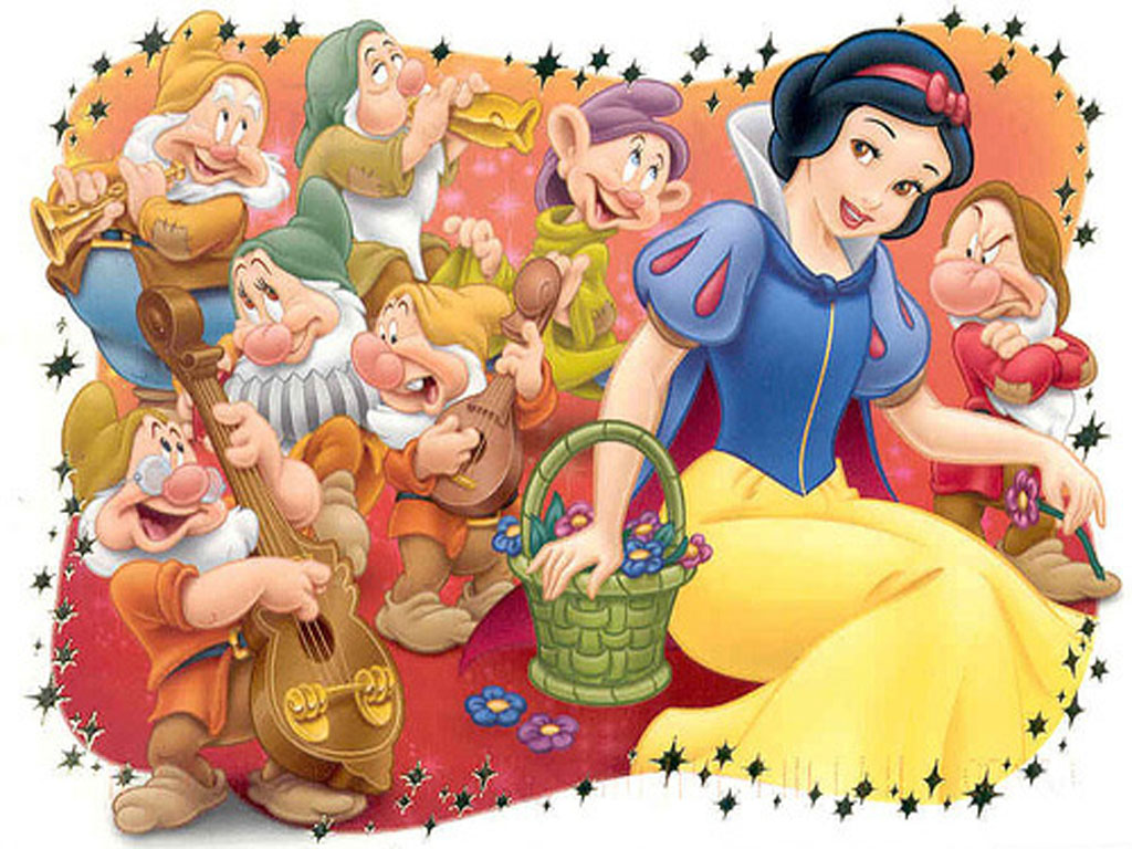 top cartoon wallpapers: snow white and the seven dwarfs wallpaper