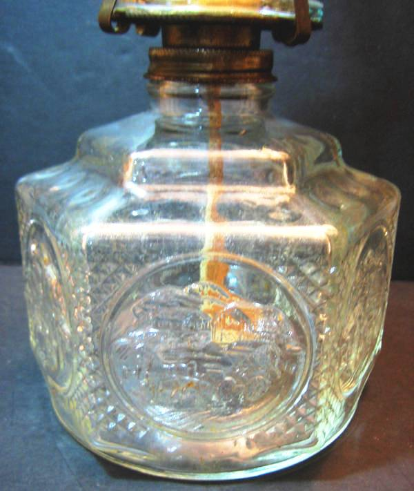 For Old Time S Sake Oil Lamp Iridescent Chimney Lamp