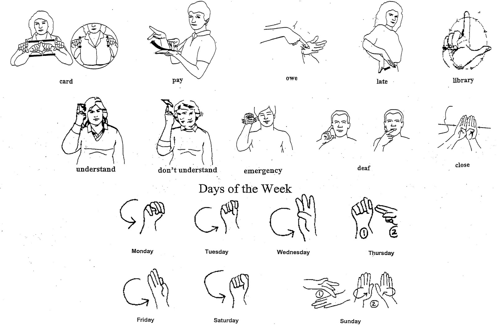It's just a picture of Witty Printable Sign Language