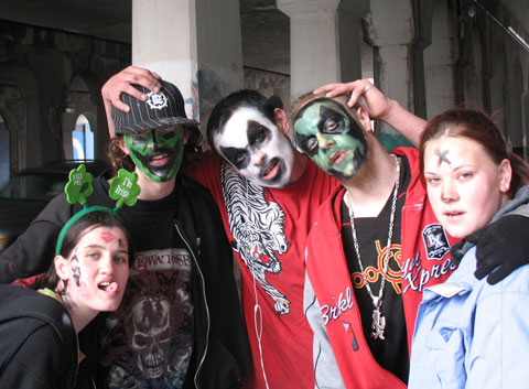 Juggalo- and ICP t-shirt, various gothic caccessories