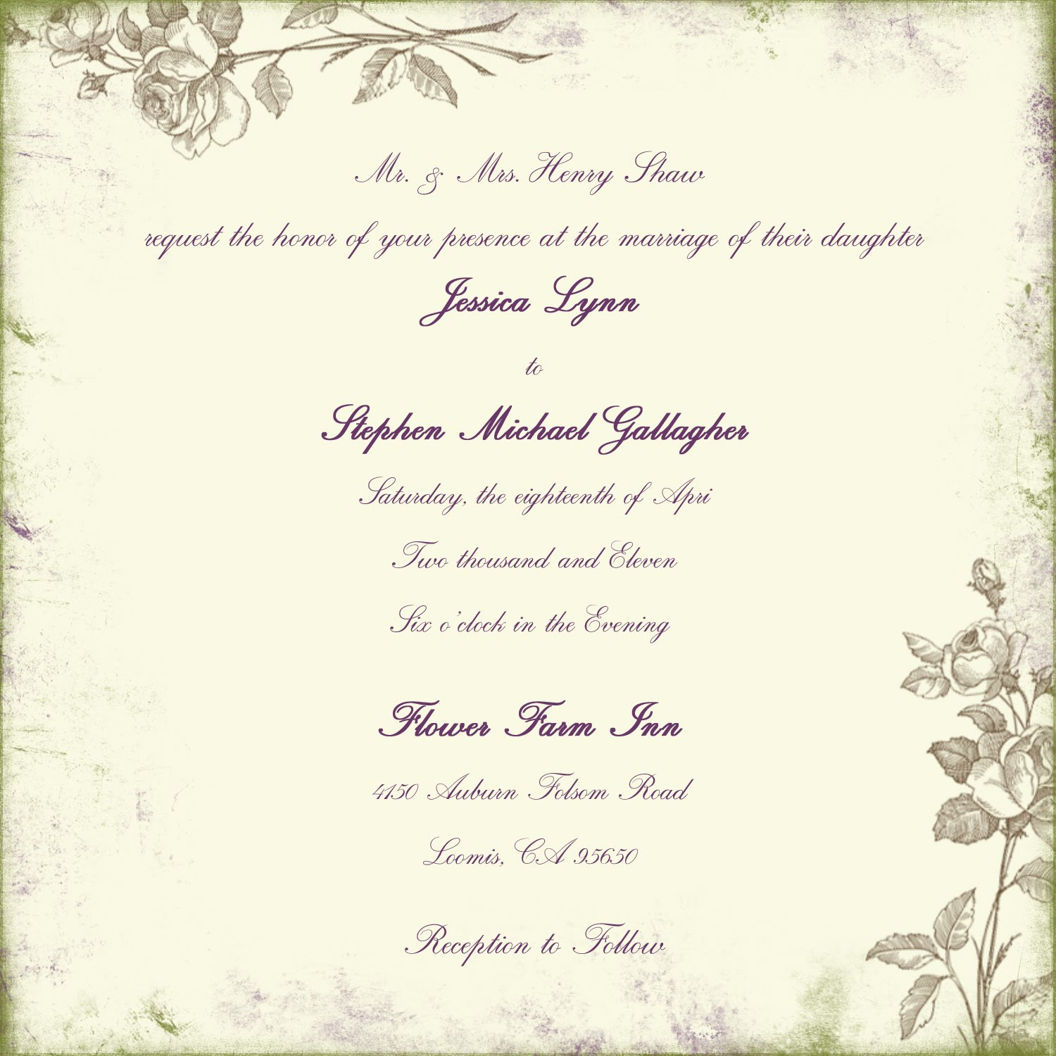 wedding invitations wording samples.