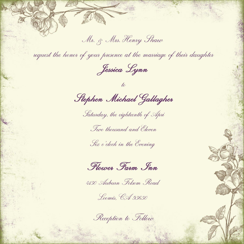 Wedding: wedding invitation wording