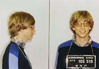 mugshot of his arrest in New Mexico in 1977 for a traffic violation