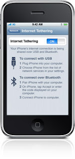 Iphone 3G S Internet Tethering