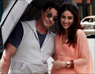Silvester Stallone with Kareena Kapoor in Kambakht ishq