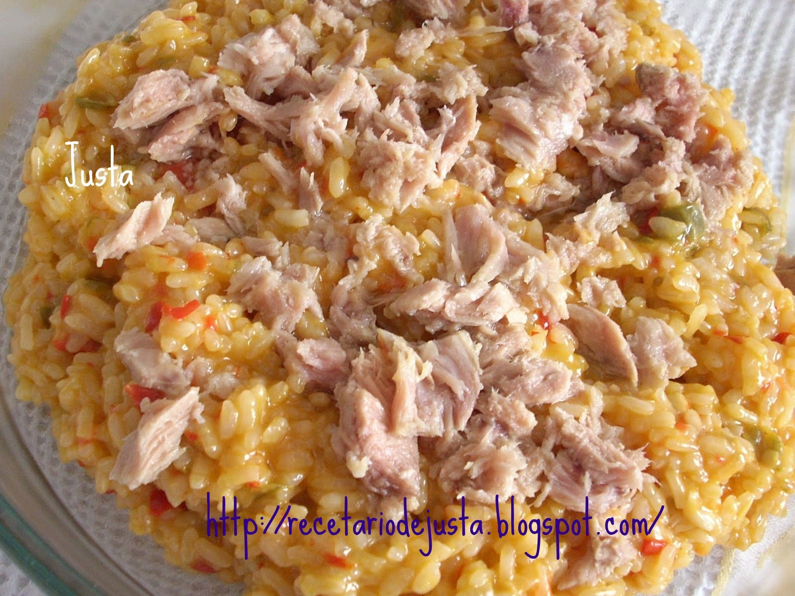 Recetario de justa arroz con at n dieta - Ensalada de arroz con atun ...